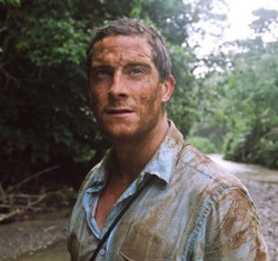 A stoic, determined Grylls- minutes before bagging the whiny, insufferable Stroud in a deadly punji pit